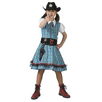 Cowgirl Mädchenkostüm Wild West Revolverheldin Mädchen Kostüm
