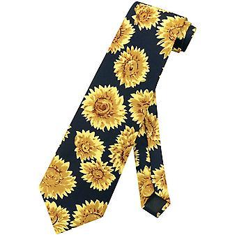 Zonnebloemen mannen stropdas zon bloemen achtergrond Mens nek Tie