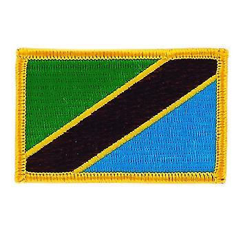 التصحيح Ecusson برود درابو تانزاني تنزانيا العلم Thermocollant شارة بلاسون