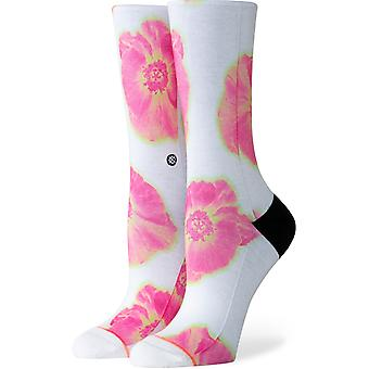 Stance Thermo Floral Crew Socks in White