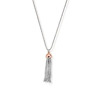 Chlobo Diamond Cut Chain With Rose Capped Tassel Pendant L2 SCDC2937