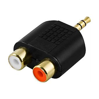 2 Pack, Adapter, 2xRCA ho to 3.5mm ha