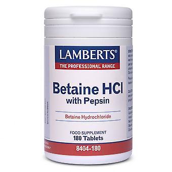 لامبرتس البيتين HCI 324mg مع أقراص بيبسين 5mg 180 (8404-180)