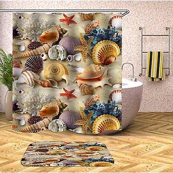 Colorful Seashells Shower Curtain