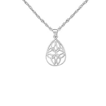 Celtic Holy Trinity Knots Oval Shaped Necklace Pendant - Includes A 20