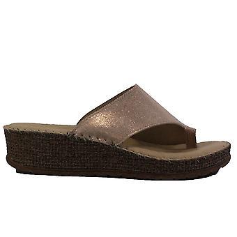 Ara Marrakesch 17716-09 Rose Gold Womens Slip On Mule Sandals