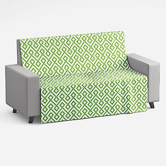 Meesoz Sofa Throw - Retro Mosaic Green