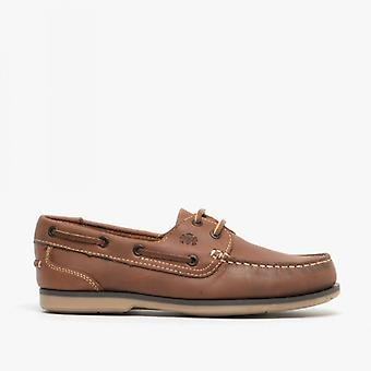 Catesby Shoemakers Pippa Ladies Leather Deck Shoes Oak