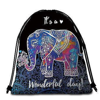 Multi Colored Indian Elephant Beach Towel