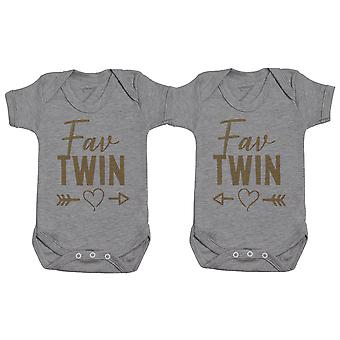 Fav Twins - Twin Set - Baby Bodysuits