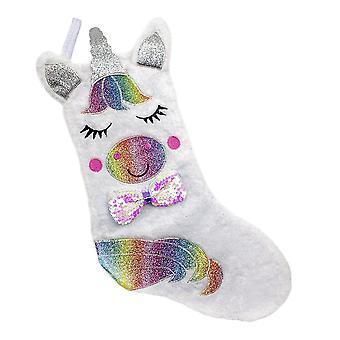 Christmas stocking with Unicorn Motif