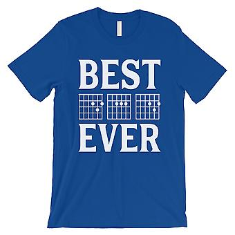 Best Dad Ever Guitar Chord Mens Royal Blue Cute Father's Day Shirt