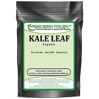 Kale - De polvo de hoja de col rizada orgánica natural