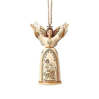 Jim Shore Heartwood Creek Ivory & Gold Nativity Angel