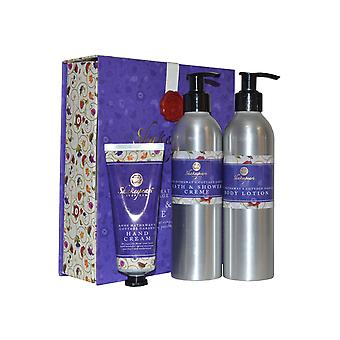 Shakespeare Inspired Anne Hathaway's Cottage Garden Bath and Body Care Trio Shower Creme, Body Lotion, Hand Cream