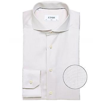 Eton Slim Fit Dobby camiseta tejida