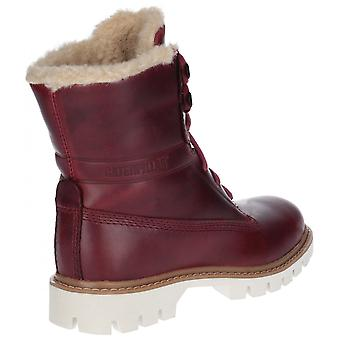 CAT Lifestyle Cat Lifestyle Basis Fur Lace Up Boot Dark Red