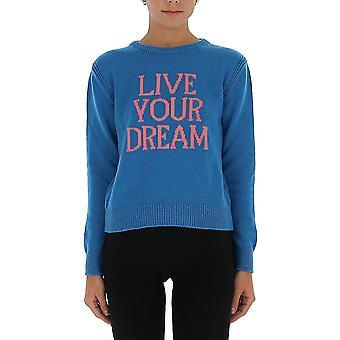 Alberta Ferretti 09421603j1317 Women's Light Blue Cashmere Sweater