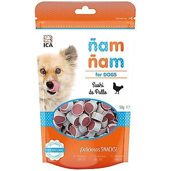 ICA Sushi stora kyckling Nam Nam 50G (hundar, godsaker, Sega och mjukare godsaker)