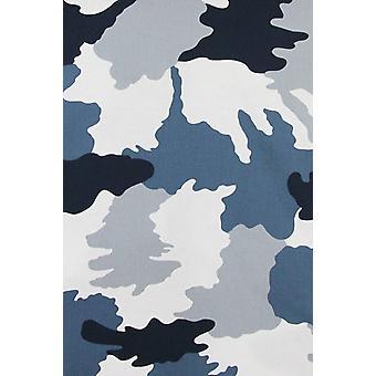 Italian shirts-Slim Fit shirt-Blouse Classic Army Pattern-Blue