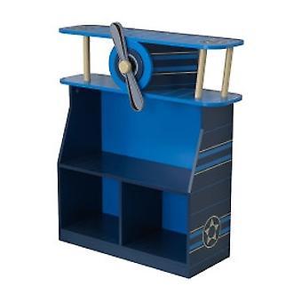 Plat houten boekenkast KidKraft vliegtuig