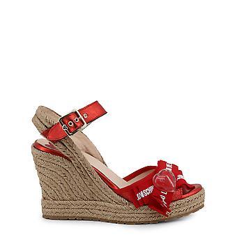 Kærlighed Moschino Oprindelige Kvinder Forår / Sommer Kile - Rød Farve 34570