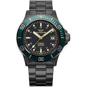 Combat Analog Men's Automatic Watch with GL0273 Stainless Steel Bracelet