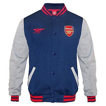 Arsenal FC Virallinen jalkapallo lahja pojat retro varsity baseball takki navy