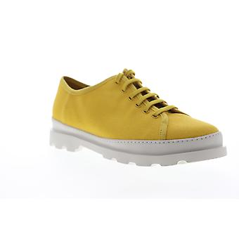 Camper Brutus  Mens Yellow Canvas Low Top Lace Up Euro Sneakers Shoes