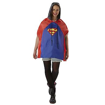 Superman Unisex Volwassenen Douche Proof Poncho