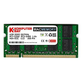 Komputerbay MACMEMORY jablko 4GB (Single Stick 4GB) PC2-5300 667MHz DDR2 SODIMM iMac a MacBook pamäte