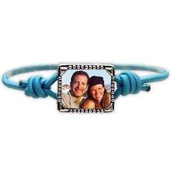 Bandz Children Girls Aqua Photo Frame Elastic Stretch Bracelet