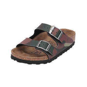 Birkis סנטיאגו BF הסוואה ילדים סנדלי הקיץ נעלי היפוך ירוק