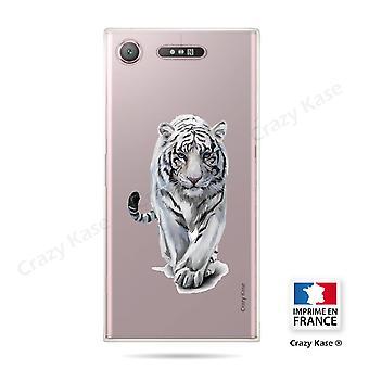 Rumpf für Sony Xperia Xz1 Soft White Tiger