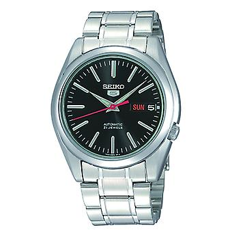 Seiko 5 Automatic Black Dial Silver Stainless Steel Men's Watch SNKL45K1