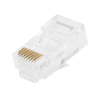 8P8C RJ45 Modulære stik til strandede Cat5/Cat5e Ethernet-kabel 100 stk/pakke fra Monoprice