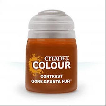 Contrast: Gore-Grunta Fur (18ml) ,Citadel Paint Contrast, Warhammer 40,000