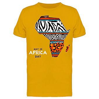 Afrikka Day 25 Toukokuu Graphic Tee Men's -Image Shutterstock