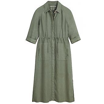 ساندويتش الملابس الناعمة فستان القميص الأخضر