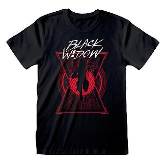 Marvel Black Widow Text And Silhouette Men's T-Shirt | Official Merchandise