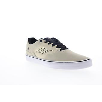 Emerica The Low Vulc Slam Victor Mens Beige Tan Suede Skate Sneakers Shoes