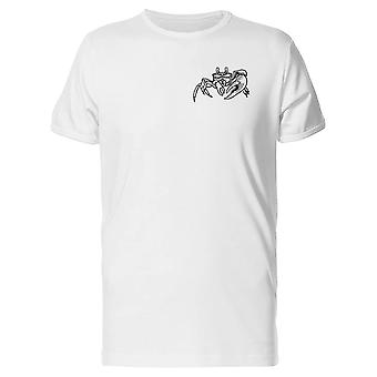 Hand Drawing Of A Crab Tee Men's -Image by Shutterstock