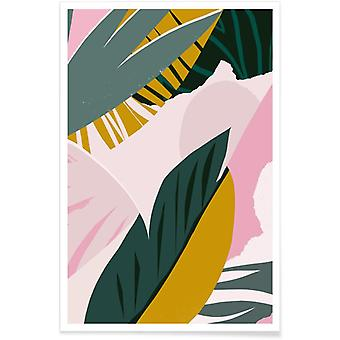 JUNIQE Print - Shady Palms - Leaves & Plants Poster in Colorful