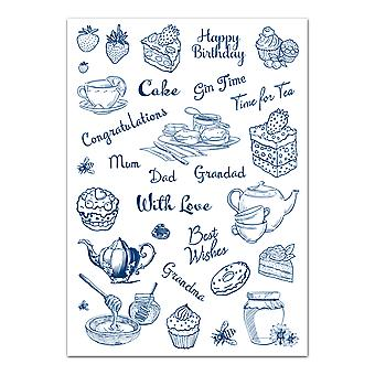 Tattered Lace Afternoon Tea A4 Stamp Set
