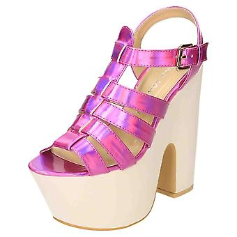 Koi Footwear High Heel Gladiator Sandals Chunky Platform Slingback Shoes