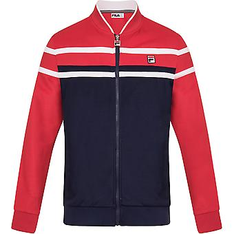 Fila Naso Zip Front Track Top Navy/Red/White 87