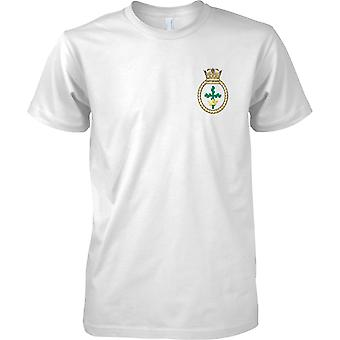 HMS Nottingham - ontmanteld Koninklijke Marine schip T-Shirt kleur