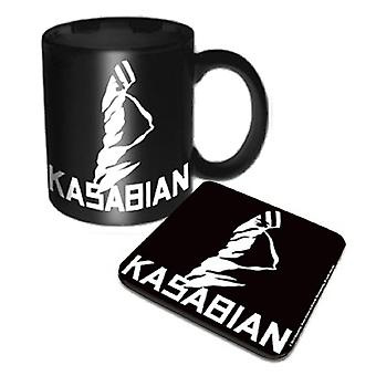 Kasabian Mug and Coaster Ultraface band logo new official Gift set