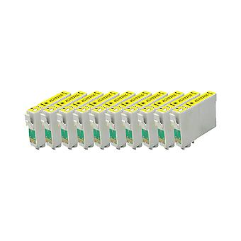 RudyTwos 10x Replacement for Epson Apple Ink Unit Yellow Compatible with Stylus SX230, SX235W, SX420W, SX425W, SX430W, SX435W, SX438W, SX440W, SX445W, SX445WE, SX525WD, SX535WD, SX620FW, Office B42WD,