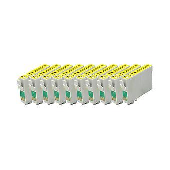 استبدال 10 x روديتوس لابل Epson الحبر وحدة الصفراء متوافقة مع القلم SX230، SX235W، SX420W، SX425W، SX430W، SX435W، SX438W، SX440W، SX445W، SX445WE، SX525WD، SX535WD، SX620FW، مكتب B42WD،